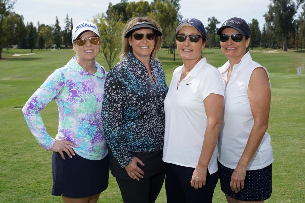 Four beautiful pro-life women ready to Golf - Support Life